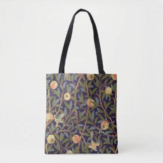 Vogel-und Granatapfel-Vintages Blumen Williams Tasche