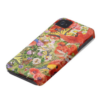 Vögel und Schmetterlinge iPhone 4 kaum dort iPhone 4 Case-Mate Hülle