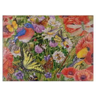 Vogel-und Schmetterlings-Glasschneiden-Brett Schneidebrett