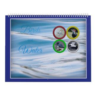 Vögel und Wasser (großformatig) Kalender