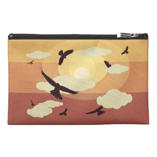 Vogel-und Wolken-Reise-Tasche