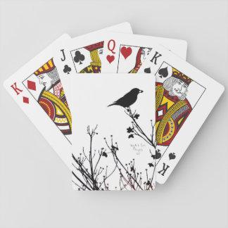Vogel verzierte Spielkarten
