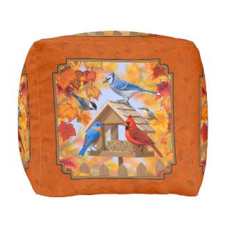 Vogel-Zufuhr-Ansammlungs-Herbst-Orange Hocker