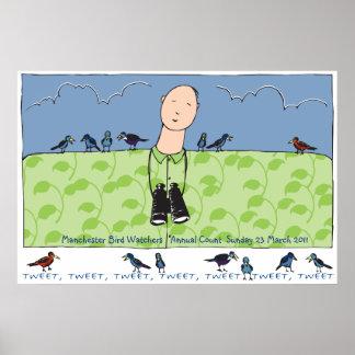 Vogelbeobachter-Plakat Poster