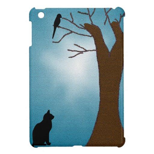 Vogelbeobachtung-Katze iPad Mini Etui