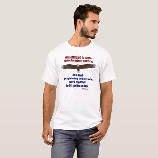 Vogelbeobachtung und Politik T - Männer T-Shirt