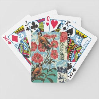 Vögelchen und Blumen - Chartas des Pokers Bicycle Spielkarten