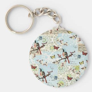 Vögelchen und Musik - Schlüsselbund Schlüsselanhänger