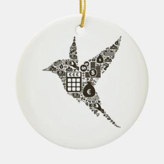 Vogelgeschäft Keramik Ornament