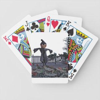 Vogelscheuche des Jack-O in einem Kürbis-Flecken Bicycle Spielkarten