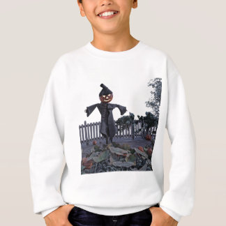 Vogelscheuche des Jack-O in einem Kürbis-Flecken Sweatshirt