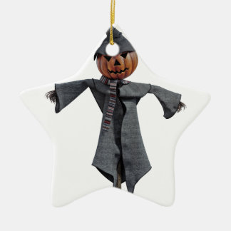 Vogelscheuche des Jack-O Keramik Stern-Ornament