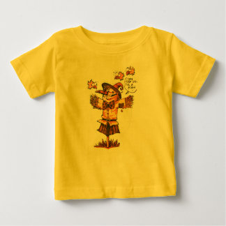 Vogelscheuche gibt Freundschaftsmitteilung Baby T-shirt