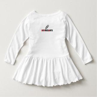 Vogelzacken Kleinkind-Rüsche-Kleid Kleid