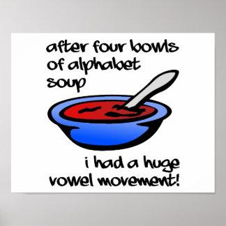 Vokal-Bewegungs-lustiges Plakat