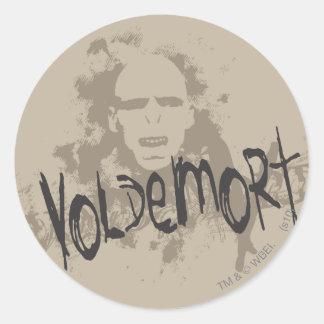 Voldemort dunkle Künste grafisch Runder Sticker