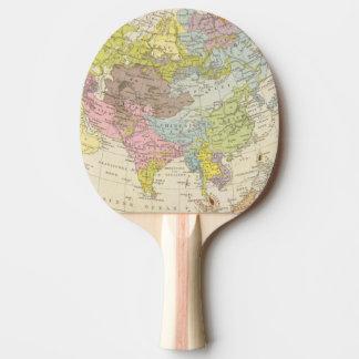 Volkerkarte von Asien - Karte von Asien Tischtennis Schläger