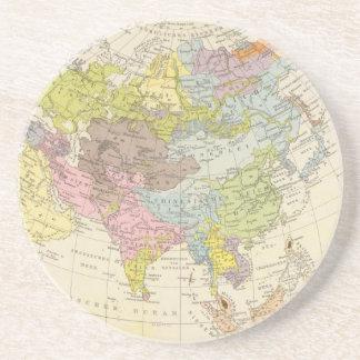 Volkerkarte von Asien - Karte von Asien Untersetzer