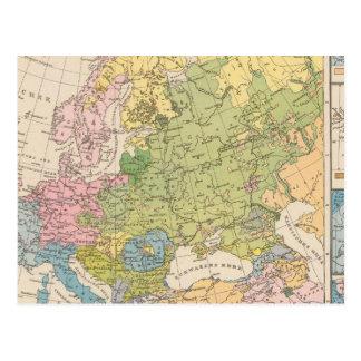 Volkerkarte von Europa, Karte von Europa