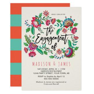 Volkseinladung der Blumen-| des Streifen-| der 12,7 X 17,8 Cm Einladungskarte