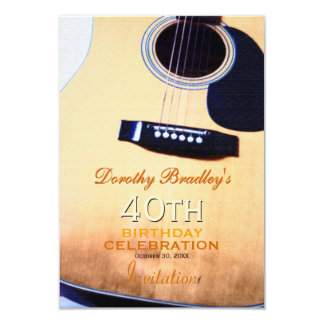 Volksgitarren-40. Geburtstags-Feier-Gewohnheit Karte