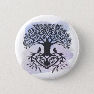 Volkskunst-Baum des Lebens Runder Button 5,1 Cm