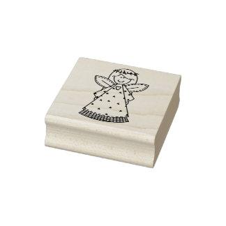 Volkskunst-Engels-Weihnachtsgummi-Briefmarke Gummistempel