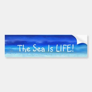 Volkskunst-Nachtozean-Meer ist- Autoaufkleber