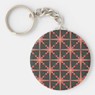 Volkskunst-Steppdecke Schlüsselanhänger