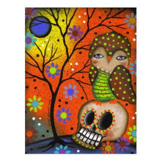 Volkskunst-Tag der Toten durch Lori Everett Postkarte