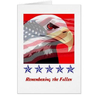 Volkstrauertag, Weißkopfseeadler, amerikanische Grußkarte