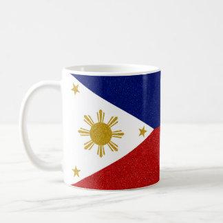 Voll-Verpackung Philippinen-Glitter-Flagge Kaffeetasse