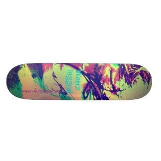 Voll Wasser in der Farbe Personalisiertes Skateboard