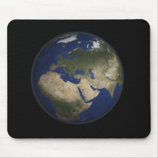 Volle Erdansicht von Afrika, von Europa und von Mousepad