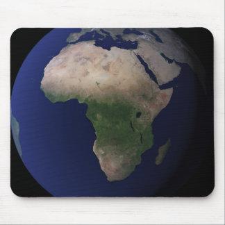 Volle Erde, die Afrika, Europa u. mittleres EA Mousepad