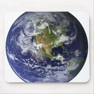 Volle Erde, die Nordamerika zeigt Mousepad