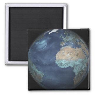 Volle Erde, die Verdampfung zeigt Quadratischer Magnet