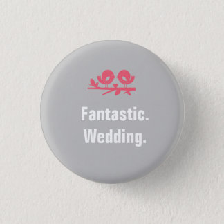 Volle kundengerechte Hochzeits-Knöpfe Runder Button 2,5 Cm