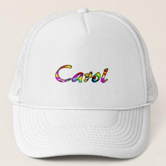 Volle weiße Maschen-Kappe für Carol Truckerkappe