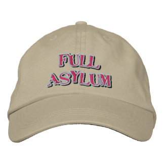 Voller Asyl-Hut Besticktes Baseballcap