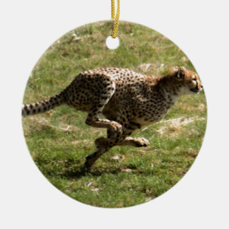 Voller Galopp des Gepards (Acinonyx_jubatus) Keramik Ornament