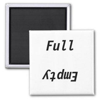 Voller leerer Kühlschrank Quadratischer Magnet