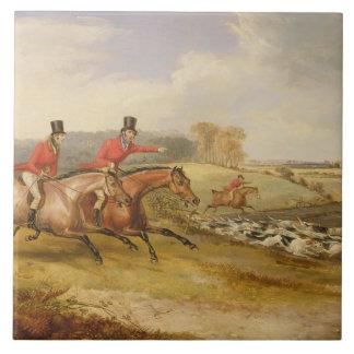 Voller Schrei, der Hall des Junggesellen, 1835 (Öl Große Quadratische Fliese