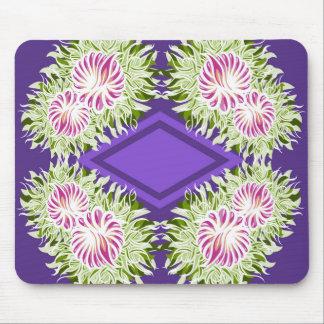 Volles Blüten-Muster Mousepad