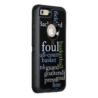 Volles Gericht des Basketballs kundenspezifisches OtterBox iPhone 6/6s Plus Hülle