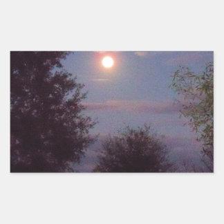 volles Wolf-Mondsteigen Rechteckiger Aufkleber