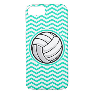 Volleyball; Aqua-grünes Zickzack iPhone 8/7 Hülle