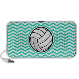 Volleyball Aqua-grünes Zickzack Tragbare Speaker