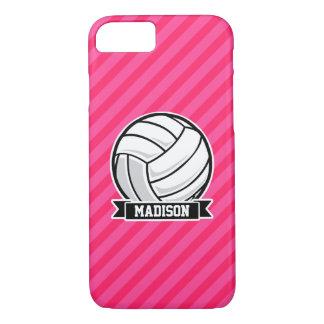 Volleyball auf rosa Neonstreifen iPhone 8/7 Hülle