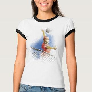 Volleyball-Aufschlag T-Shirt